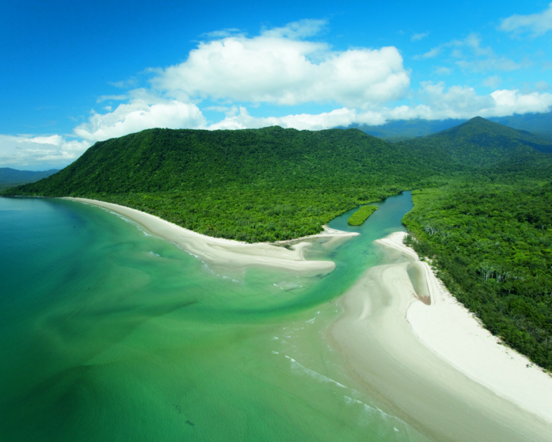 daintree-rainforest-cape-tribulation-river-mouth-aerial
